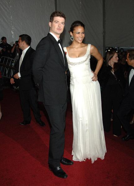 Robin Thicke & Wife