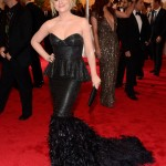 Amy Poehler Wearing a gown by Fotini