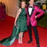 Lena Dunham and Hamish Bowles Lena wears a gown by Wes Gordon