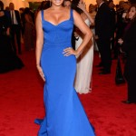 LaLa Anthony Wearing a dress by Zac Posen and a Forevermark diamond ring